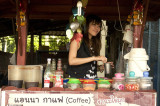 Coffee stall at Ubon Ratchathani Station
