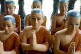 Carved monks