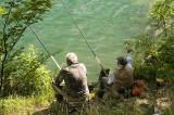 Fishing at Bled Lake