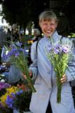 Selling flowers, Riga, Latvia