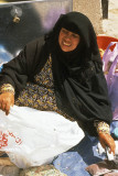Woman vendor at Buraimi