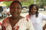 Clothing vendors at Broadhurst Mall, Gaborone