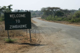 Entering Zimbabwe from Botswana, to the west