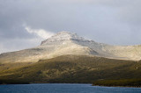 Mt Dumas looms over Perseverance Harbour, Campbell I., Sub-Antarctic NZ