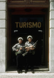 Euphoria followed the March '74 Velvet Revolution in Portugal (note the flower in the gun)