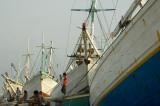 Pinisi, inter-island ships, berthed at Sunda Kelapa