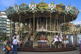 Seaside carousel at San Sebastian