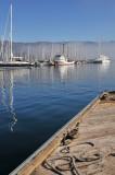SB Harbor - Clearing Fog 1