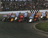 4 wide on the final parade lap
