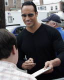 The Rock with a fan