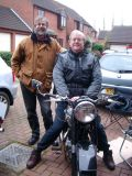 John and Stephen with Rebuilt BSA A10