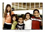 con los niños en Mariano