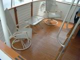 Aft deck old varnish