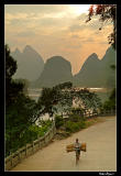 Transporting goods in early morning, Yangshuo