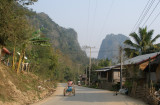 Road heading north-east away from Nong Khiau - scene of my afternoon walk