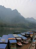 Boats moored at Nong Khiau