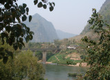 Village bridge seen from jungle track near Riverside