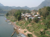 Nong Khiau and boat landing seen from bridge