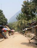 Main street - or path - of Muang Ngoi