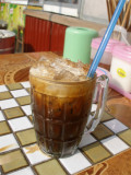 A final iced Lao coffee before flying home