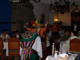 Local entertainment at the Inti Raymi restaurant at our hotel, La Libertador