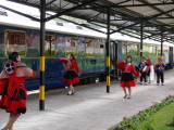 We were greeted by some lovely young dancers as we were boarding the Hiram Bingham Orient Express train