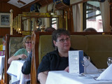 Julie and Lorie - this train is the lap of luxury