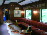 The bar & lounge car on the train