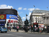 Picadilly Circus - a very lively place!