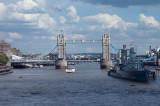 The Tower Bridge and HMS Belfast