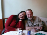 Kavey & Jim in Gerard's Corner - the best Chinese food we have had in ages! (and remember where we live)