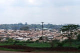 Kibera slums as seen from the road