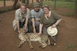 The family that pets cheetahs together, stays together....