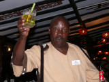 The 'Dawa' man brings potent drinks to the table