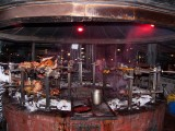 The grill pit at the Carnivore