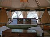 Inside the tent - Elephant Bedroom - very classy