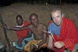 14. Samburu Village - Jamie is welcomed as an askari into the hut