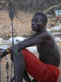 13. Samburu askari at the village