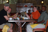 Jamie, Jim, Daniel & Lynda at breakfast - Larsen's (Samburu)