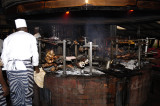 1.The grill area at the Carnivore Restaurant in Nairobi, they cook the meats on Maasai swords, over coals