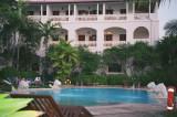 An inviting pool at the Zanzibar Serena Inn in Stone Town