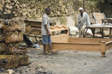 The locals make and sell furniture on the streets