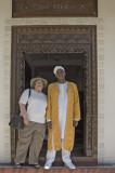 Lynda and Yussuf at the Serena Inn