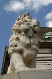 This lion (1837, engraved on a paw) guards the old County Hall