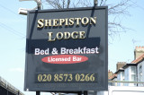 Shepiston Lodge sign - it was a cozy inn