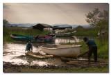 Embarcadero en el lago Abaya  -  Boat landing in Abaya lake