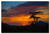 Puesta de sol en Etiopia  -  Sunset in Ethiopia