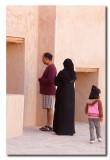 Familia Omani en el castillo de Nizwa - Omani family in the Nizwa castle