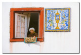 Anciana en la ventana  -  Old woman on the window