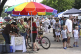 The little market is a hubbub of activity...